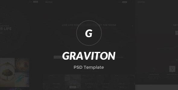 Graviton PSD Template - Photoshop UI Templates