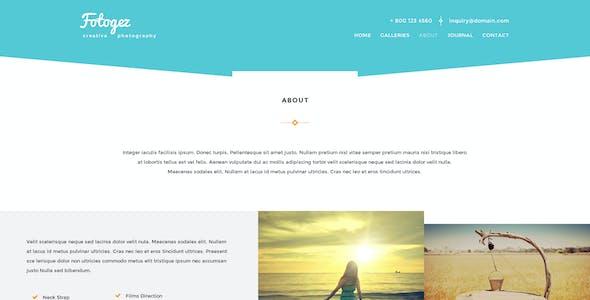 Fotogez - Creative Photography Theme