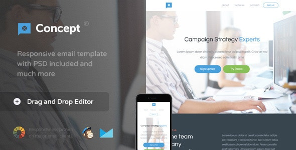 Concept - Email Template + Themebuilder Access - Newsletters Email Templates