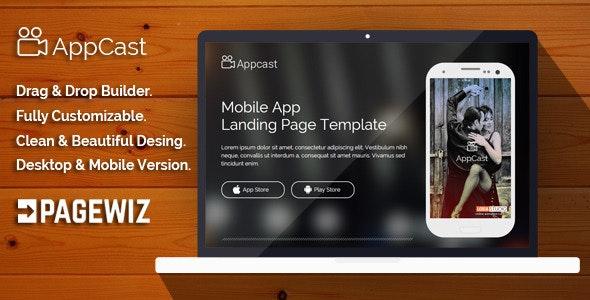 App Cast Mobile App Landing Page Template - Pagewiz Marketing