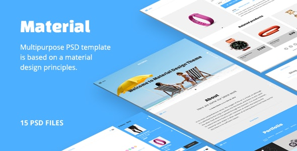 Material PSD template - Creative Photoshop