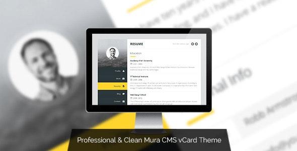 Premium vCard - Mura CMS Responsive vCard Theme - Mura CMS Themes