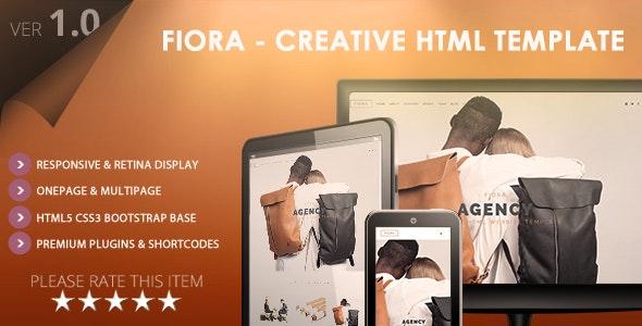 Fiora - Multipage & Onepage HTML5 Website Template - Portfolio Creative