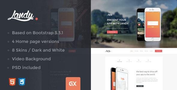 Landy - Responsive Bootstrap Landing Page  - Landing Pages Marketing
