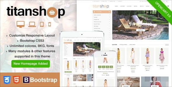 Mega Store Responsive Opencart Theme - TitanShop