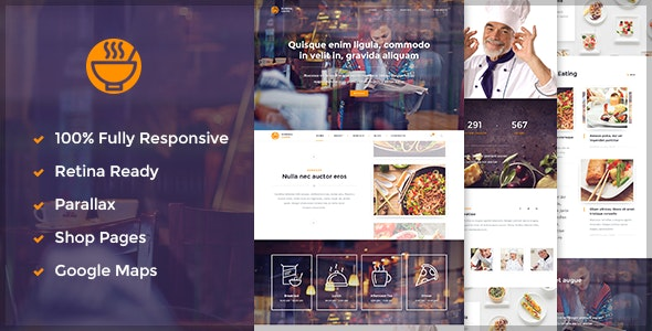 Caffe - Restaurant / Cafe HTML5 Template - Food Retail