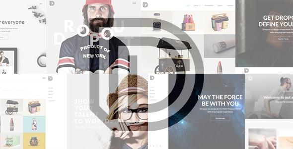 Dropout - Agency | Freelancer | Portfolio Template - Portfolio Creative