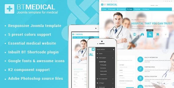 BT Medical | Responsive medical joomla template  - Health & Beauty Retail