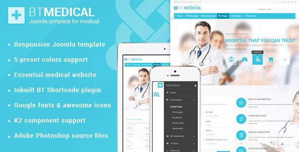 BT Medical   Responsive medical joomla template