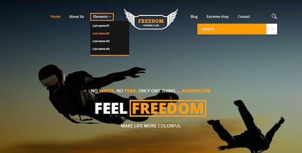 Freedom Extreme Club - Powerful PSD Template