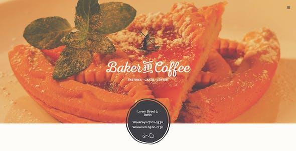 Baker & Coffee .PSD Template