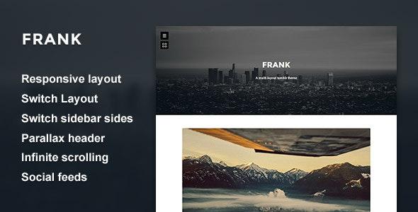 Frank - Minimal One Column theme - Blog Tumblr