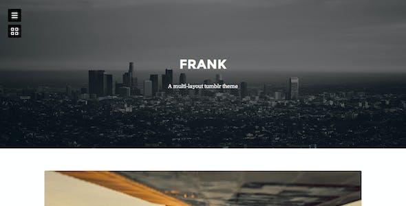 Frank - Minimal One Column theme