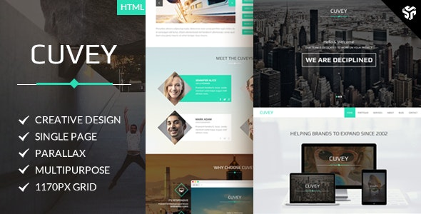 Cuvey | Multi-Purpose Parallax HTML Landing Page  - Site Templates