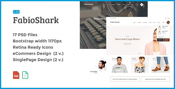FabioShark - Professional PSD Design Theme - Corporate Photoshop