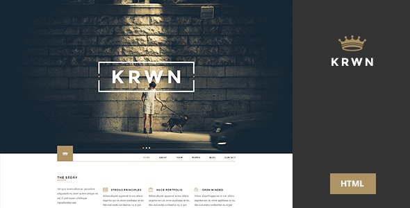 Krwn - Creative and Business HTML Template - Creative Site Templates