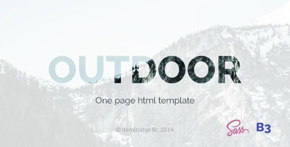 Outdoor — OnePage Responsive Template - Site Templates