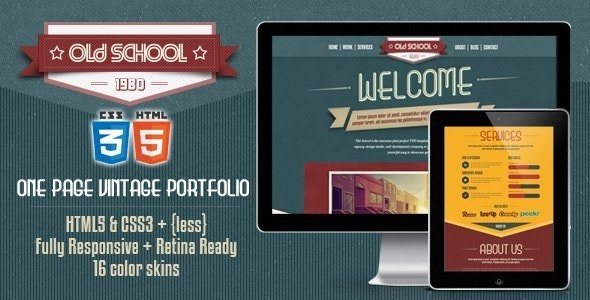 Old School | The One-Page Vintage Portfolio Template - Portfolio Creative