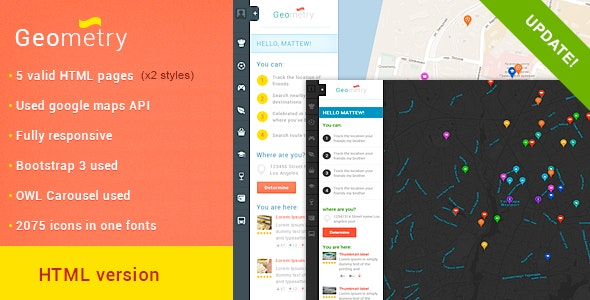 GeoMetry –HTML Geolocation Template v2 - Retail Site Templates