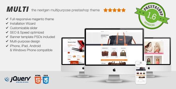 Multi - Fluid Responsive Prestashop Theme - Shopping PrestaShop