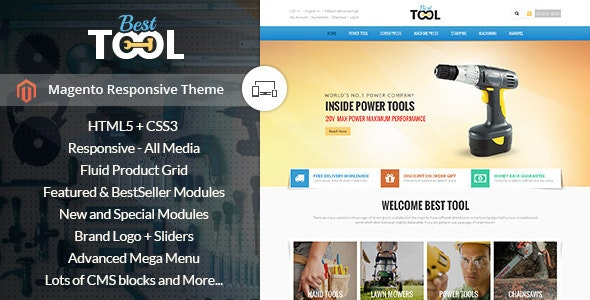 Tools - Magento Responsive Theme - Technology Magento