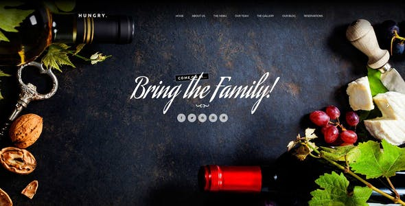Hungry - A One-Page HTML Restaurant Template