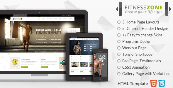 Fitness Zone | HTML Sports Template for Gym - Health & Beauty Retail