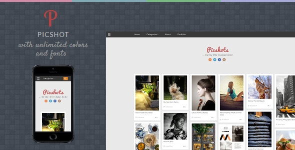 PicShots - Responsive Blogger Template - Blogger Blogging