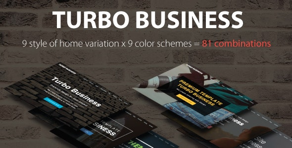 Turbo Business - Premium Muse Template - Creative Muse Templates