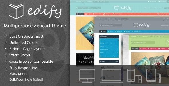 Edify - Responsive Zen Cart Theme - Zen Cart eCommerce