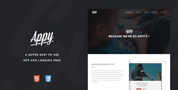 Appy - An Easy To Use App and Landing Page - Creative Landing Pages