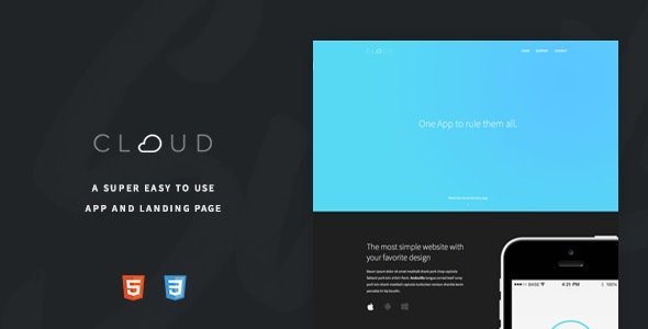 Cloud - An Easy To Use App Landing Page - Landing Pages Marketing