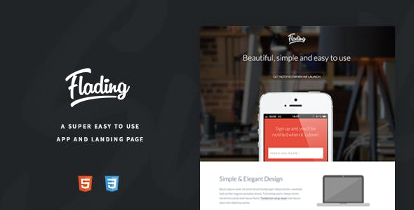 Flading - An Easy To Use Responsive Landing Page
