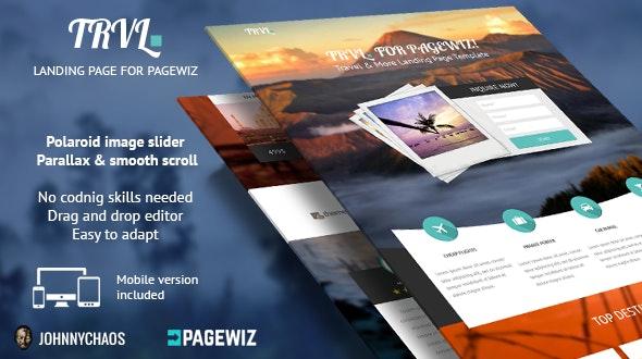 Trvl. - Premium Travel Pagewiz Landing Page - Pagewiz Marketing