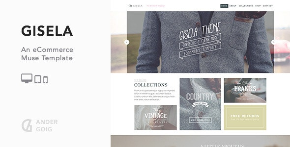 Gisela - eCommerce Muse Template - eCommerce Muse Templates