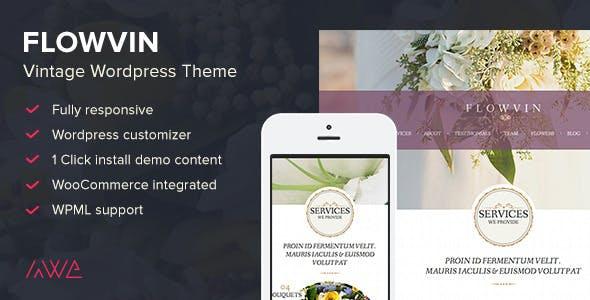 FlowVin - Vintage Flower Shop WordPress Theme