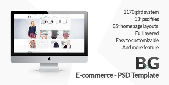 B&G - Ecommerce PSD Template - Retail Photoshop