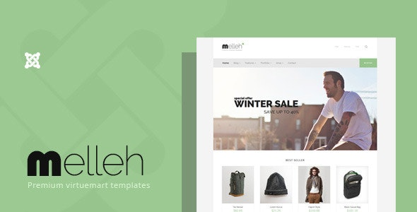 Melleh - Clean Ecwid and Virtuemart Template - VirtueMart Joomla