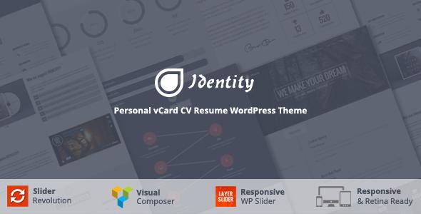 Identity - Personal vCard CV Portfolio WP Theme - Portfolio Creative