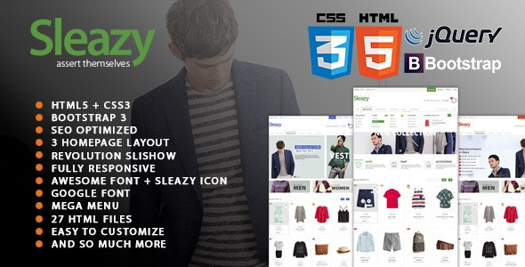 Sleazy - SEO Responsive HTML Fashion Template - Fashion Retail