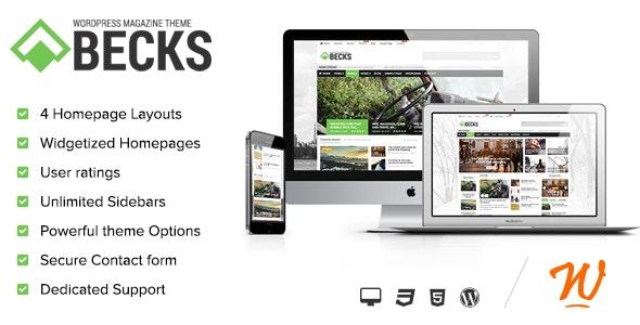Becks -  WordPress News and Magazine Theme - Blog / Magazine WordPress