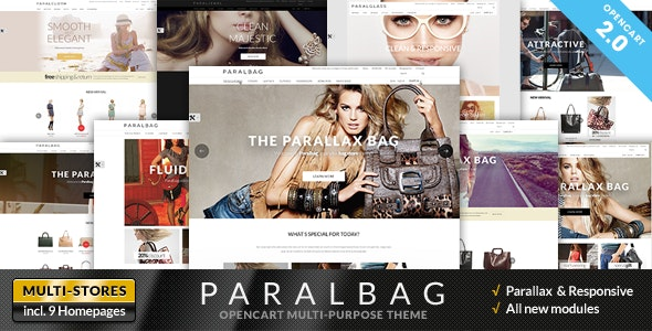 Opencart Fashion Bag Store - Parallax - Fashion OpenCart