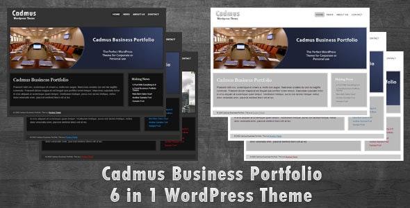 Cadmus Business Portfolio - 6 in 1 WordPress Theme - Corporate WordPress