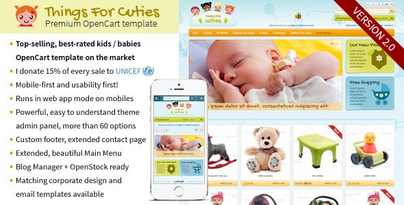 ThingsforCuties - the OpenCart Baby & Kids Template by