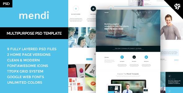 Mendy - MultiPurpose Corporate Template - Creative Photoshop