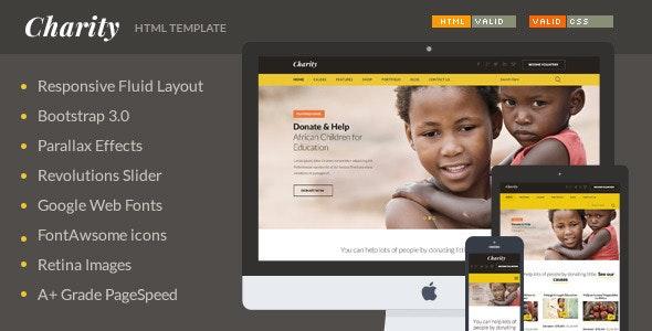 Charity - Nonprofit/NGO/Fundraising HTML Template - Charity Nonprofit