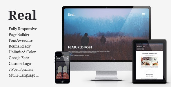 REAL - Responsive Blog WordPress Theme - Personal Blog / Magazine