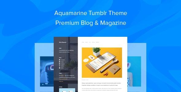 Aquamarine Tumblr Theme Premium Blog & Magazine - Blog Tumblr