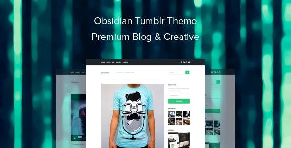 Obsidian Tumblr Theme Premium Blog & Creative - Blog Tumblr