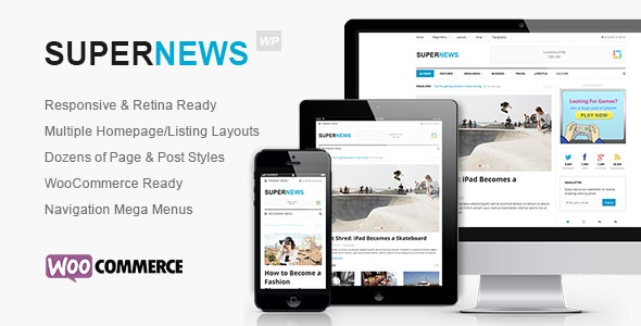SuperNews - Ultimate WordPress Magazine Theme - Blog / Magazine WordPress